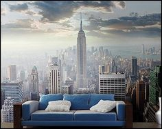 new york wallpaper murals decor on bedroom ideas | h o m e