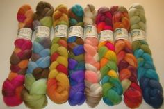 Surprise Sample BoxHand Painted BFL Wool by GreenwoodFiberworks, $28.00 - I like the Metro, Seaglass and Cupcake colorways