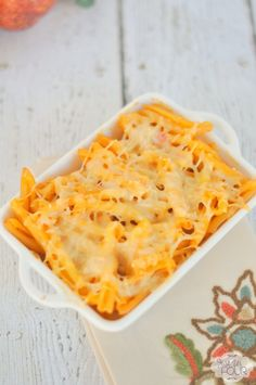 The perfect fall twist on a traditional macaroni and cheese. I love the idea of making pumpkin macaroni and cheese by adding pumpkin to the sauce.