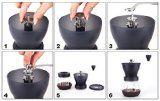 Orjoe grinder http://www.amazon.com/Manual-Coffee-Grinder-grinds-Coffee/dp/B00QEGQUKI