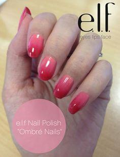 Me, My e.l.f. and I: e.l.f Ombré Nails: How to Tutorial Video