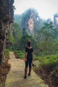Jessica Peterson in #Zhangjiajie National Forest Park, #China #travel