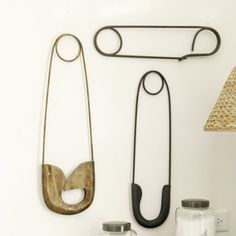 #Wall #Decor #Giant #Safety #Pins