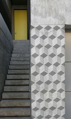 Stencil1 Geometric 3D repeat pattern stencil S1_PA_25