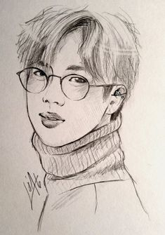 Happy birtday Jin!! (Quick-sketch) by HejLoa.deviantart.com on @DeviantArt