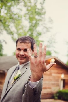 newlywed groom and his wedding band - Jayne B Photography