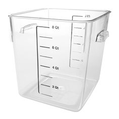 2a12ca7ae5f5 Rubbermaid FG630800CLR 8 qt Space Saving Square Container - Clear Poly