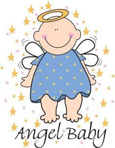 Angel baby-- cute logo