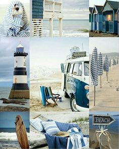 Collage by Renée Collage by Renée – Winterbilder Coastal Style, Coastal Living, Color Collage, I Love The Beach, Am Meer, Collages, Beach Cottages, Ocean Life, Beach Themes