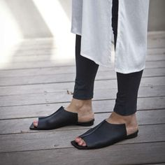 NEW COLLECTION Black leather sandals / by WalkByAnatDahari on Etsy, $230.00