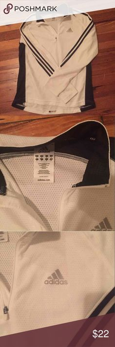 nwot adidas quarter zip Size Small but fits a medium too, never worn! Black and white, perfect condition:) Adidas Jackets & Coats