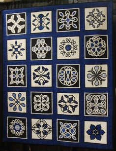 FABRIC THERAPY: 2013 Shipshewana Quilt Festival, Part Five...  Many great quilts on this blog entry, and AMAZING quilting.  I love this celtic knot appliqued wedding quilt.