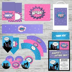 Supergirl Party Printables | Jackal Design