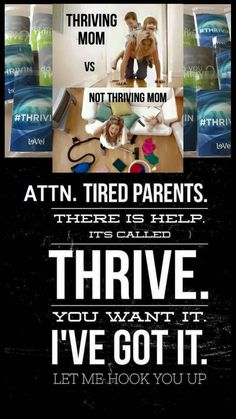Being tired completely sucks when you're a parent, but just know you don't need to feel like that. My favorite thing about sharing the THRIVE EXPERIENCE is the results people have, and how fantastic they feel, but best of all, how it changes their lives f