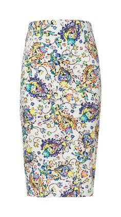 Printed Pencil Skirt | Zara