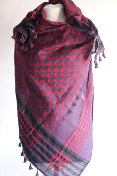 WIH Keffiyehs - Dark Purple Red