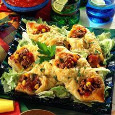 Mexikanische Blätterteigtaschen Rezept | LECKER