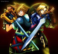 Link and Sora - The Legend of Zelda and Kingdom Hearts