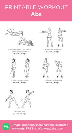 Abs: my visual workout created at WorkoutLabs.com • Click through to customize and download as a FREE PDF! #customworkout