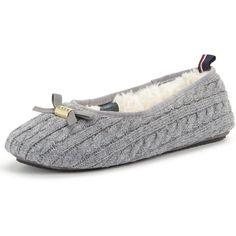 af58648d45929 Tommy Hilfiger Knitted Grey Ballerina Slipper (1