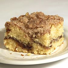 "Cinnamon Streusel Coffeecake. You can make one 9x13 pan or two 9"" cake pans with this recipe.  We gave it as a gift at Christmas last year & everyone raved about it."
