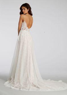 Ti Adora by Alvina Valenta - lace wedding dress sweetheart neckline and spaghetti straps