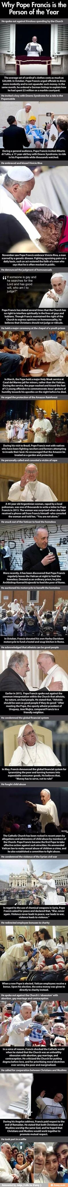 Good Guy Pope Comp. . Why Pope Francis is the Person of the Year he spoke out against frivolous spending byline Church The average set M car...