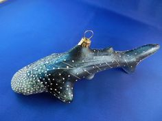 Whale Shark fish sea life blown Glass Christmas tree Ornament Poland 011088