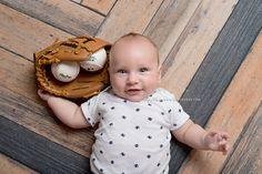 Add in a fun prop to newborn photos, like dad's favorite baseball mitt for an extra cute look! Unique Flooring, Drops Design, Creative Studio, Newborn Photos, Herringbone, Newborn Photography, Backdrops, Baby Boy, Baseball