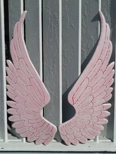 Check out this item in my Etsy shop https://www.etsy.com/listing/258954845/wood-carved-angel-wings-in-nikki-3ft-x