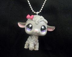 Lucy the Lamb Littlest Pet Shop Necklace by stellagraceboutique