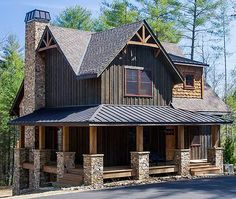 Wrap-Around Porch - 18733CK | Cottage, Country, Craftsman, Mountain, Vacation, Narrow Lot, Photo Gallery, 1st Floor Master Suite, Den-Office-Library-Study, PDF, Wrap Around Porch, Sloping Lot | Architectural Designs