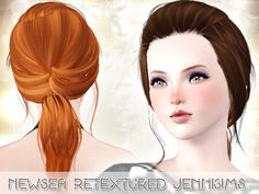Small back ponytail hairstyle - Newsea Hair Ramya retextured by Jenni Sims for Sims 3 - Sims Hairs - http://simshairs.com/small-back-ponytail-hairstyle-newsea-hair-ramya-retextured-by-jenni-sims/