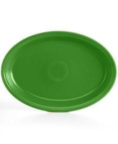 "Fiesta Shamrock 19"" Oval Serving Platter - Green"