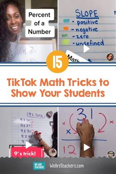 15 TikTok Math Tricks to Show Your Students. These TikTok math tricks will help teach your students multiplication tables, unit circles, and more! Math Help, Help Teaching, Teaching Math, Math Minutes, Positive Numbers, Math Magic, Learning Numbers, Math Skills, Buddha