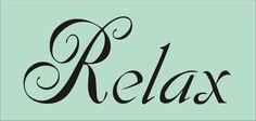relax stencil - Google Search