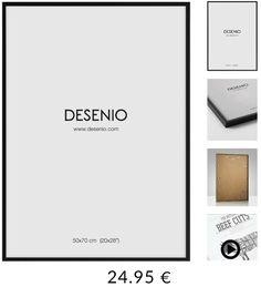 Marco 50x70,Desenio, plexiglás, madera negro