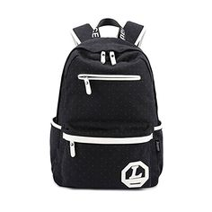 f220bbe918a0 Leaper Unisex Canvas School Backpack Super Cute College Bag Causal Style  Daypack for Teens Girls Boys Students