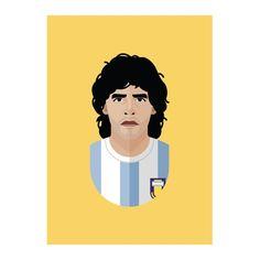 The Cool Club poster 50 x 70cm - Diego Maradona | Jouw stijl in huis meubels & woonaccessoires