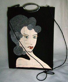 A Bag with Lady  Unique par agnieszkamalik sur Etsy, zł314.00