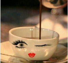 Taza de cafe, ojitos