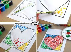 Did something like this with the kids at our school. I like this simple art project.