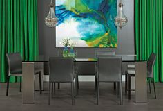 Emerald City Chic - Parker Dining Table http://www.highfashionhome.com/room-ideas-dining-room-emerald-city-chic.html #highfashionhome
