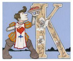 K is for Knave 9x7.5 Wonderland Alphabet Print