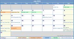 July Holidays 2016 Uk