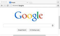 Digitate chrome:plugins nella barra degli indirizzi