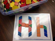 alphabet pattern block printables