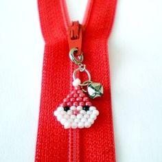 Santa Seed Bead Charm set of 2 by HandmadeCute on Etsy | Shop | Kaboodle