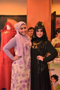 #throwback 2012 with nina septiani (Miss hijab world)