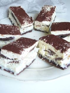Sweets Recipes, No Bake Desserts, Easy Desserts, Cookie Recipes, Snack Recipes, Romanian Desserts, Bulgarian Recipes, Square Cakes, Dessert Drinks
